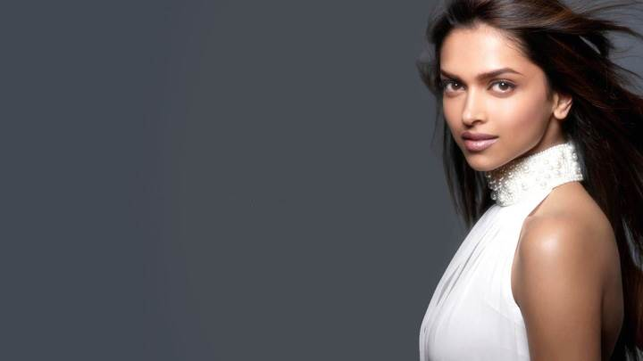 Deepika Padukone In White Dress Side Pose